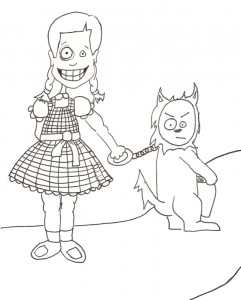 Dorothy and Toto Go Trick or Treating