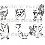 Mini Forest Animal Digis_watermarked