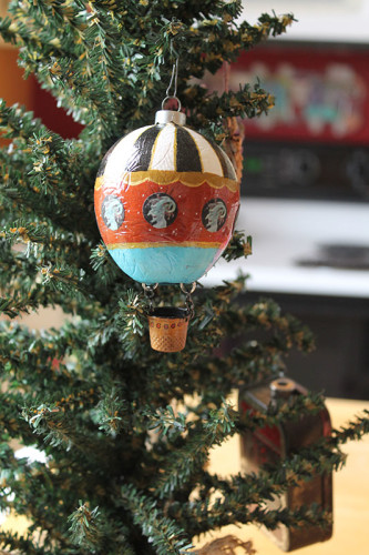 Altered Hot Air Balloon Ornament Tutorial