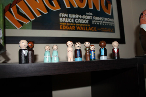 People from The Shining on Bookshelf