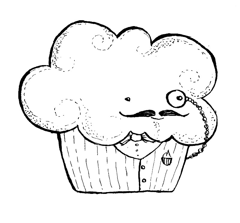 cute cupcake coloring pages - free coloring pages wonderstrange arts