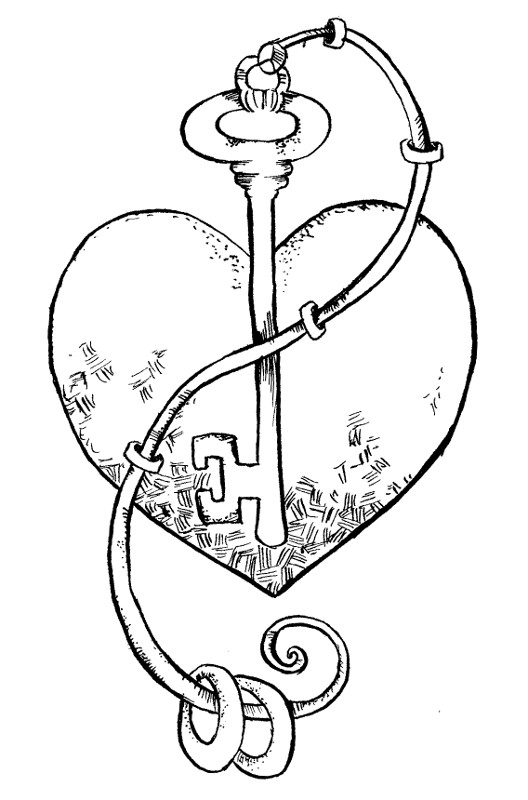 Coloring Pages Key : Free coloring pages of key outline clip art