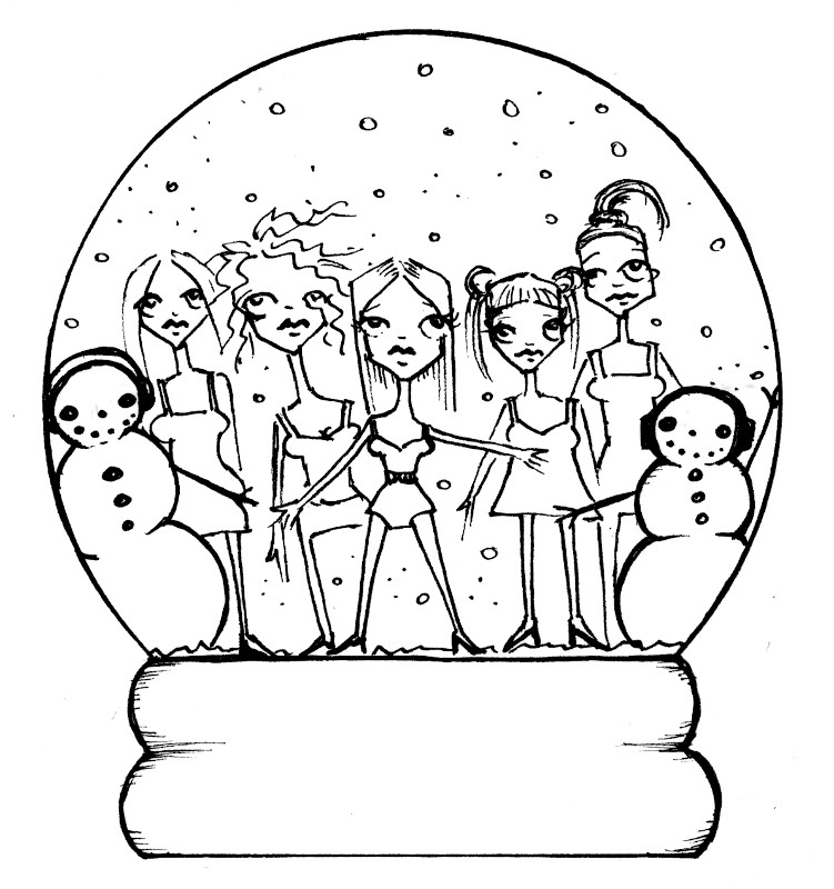 spice girl coloring pages - photo#6