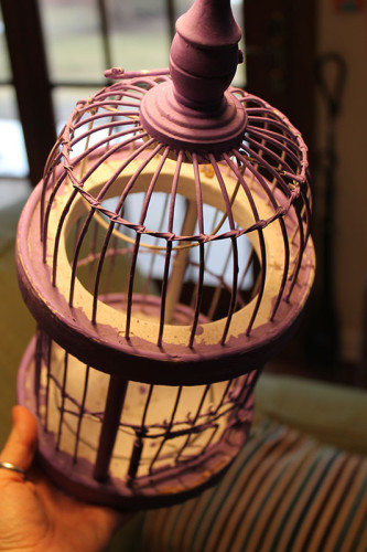 001 Purple Birdcage - Paint Drops